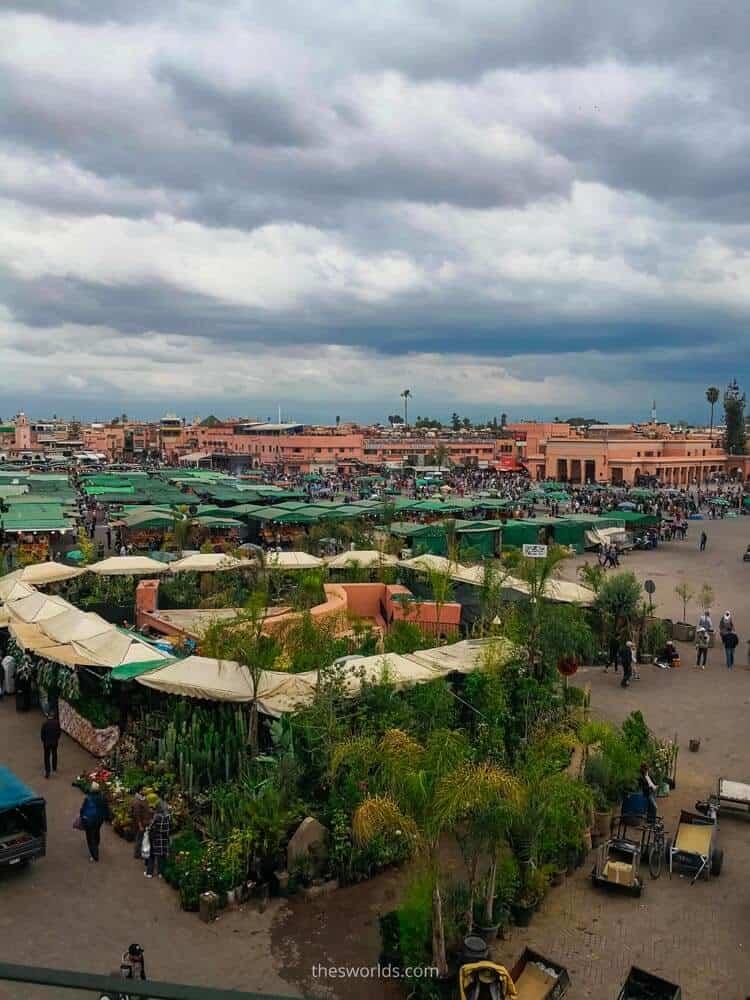 View of jemaa el fna in Marrakech