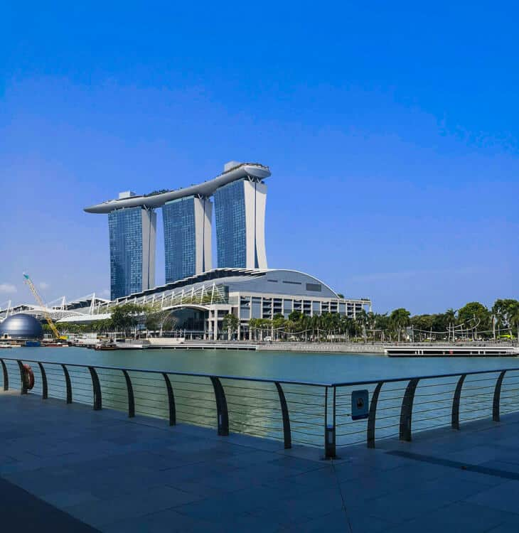 Day view of Marina bay hotel in Singapore