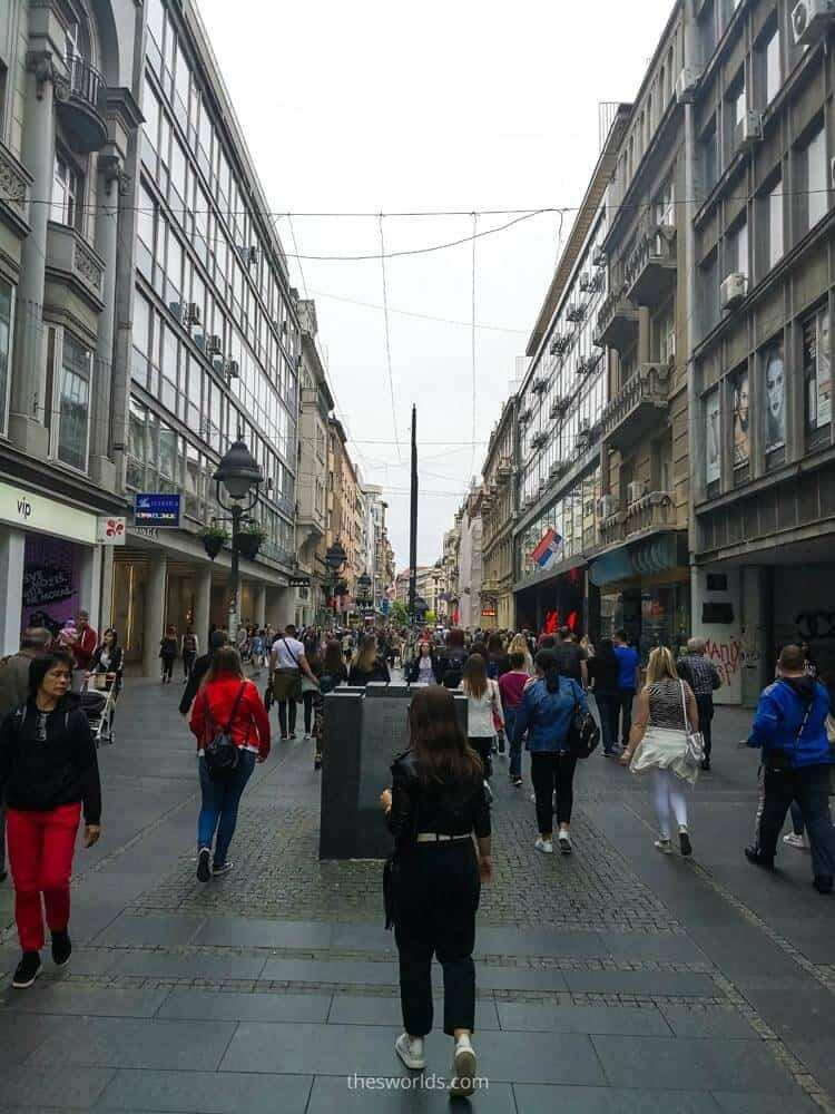 People walking at Belgrade city center