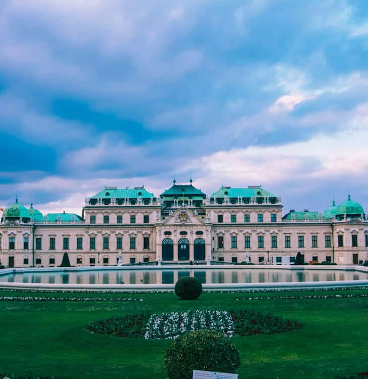 Entrance to Belvedere palace in Vienna