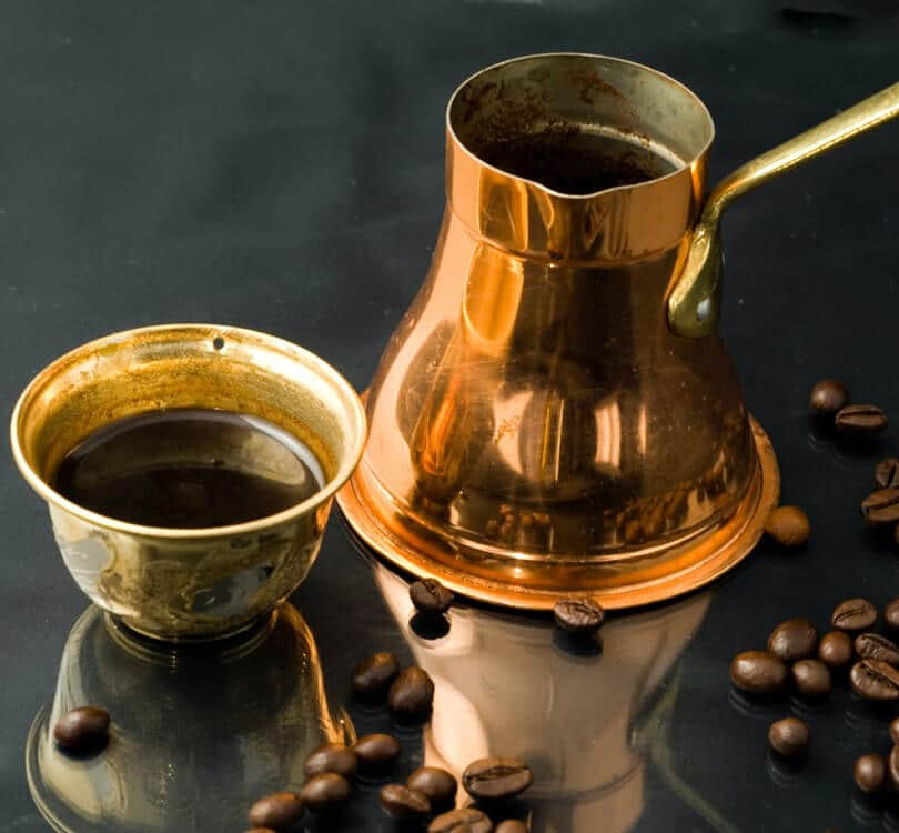 Bosnian coffee with beans