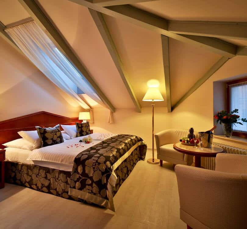 Room at Carlton hotel in Prague