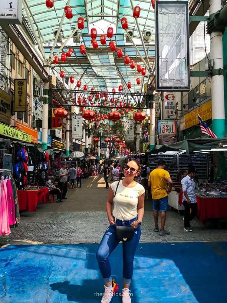 Girl posing at China market in Kuala Lumpur