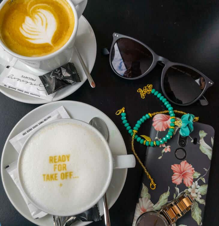 Decorated coffee in Zagreb