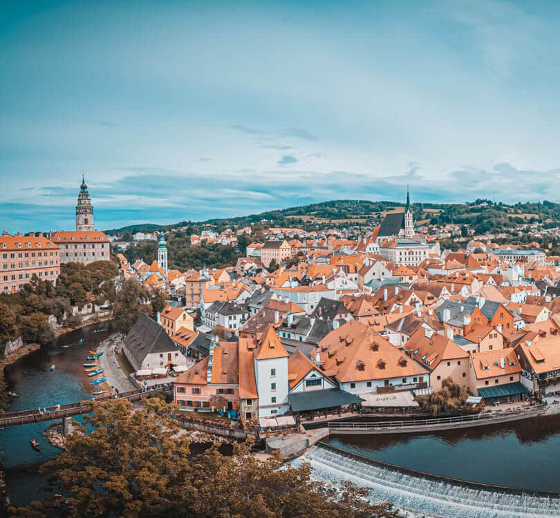 View of Czech krumlov