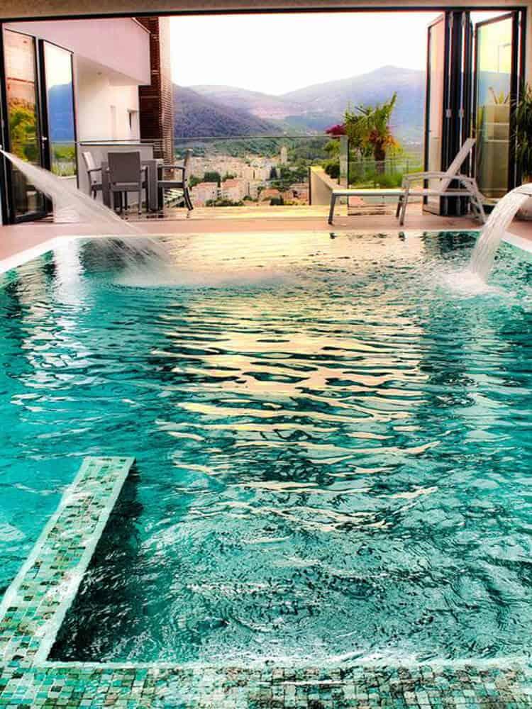 Inside pool at Hotel Eden in Mostar