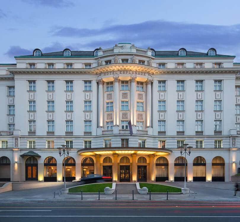 Outside of Hotel Esplanada in Zagreb
