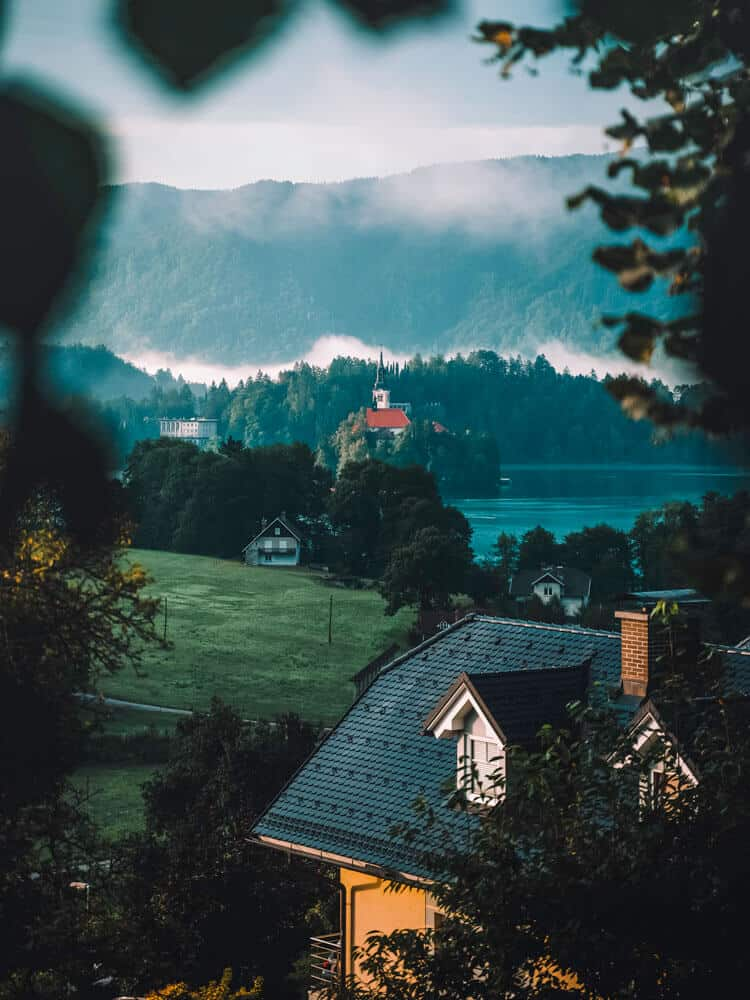 House with a view to Bled Island
