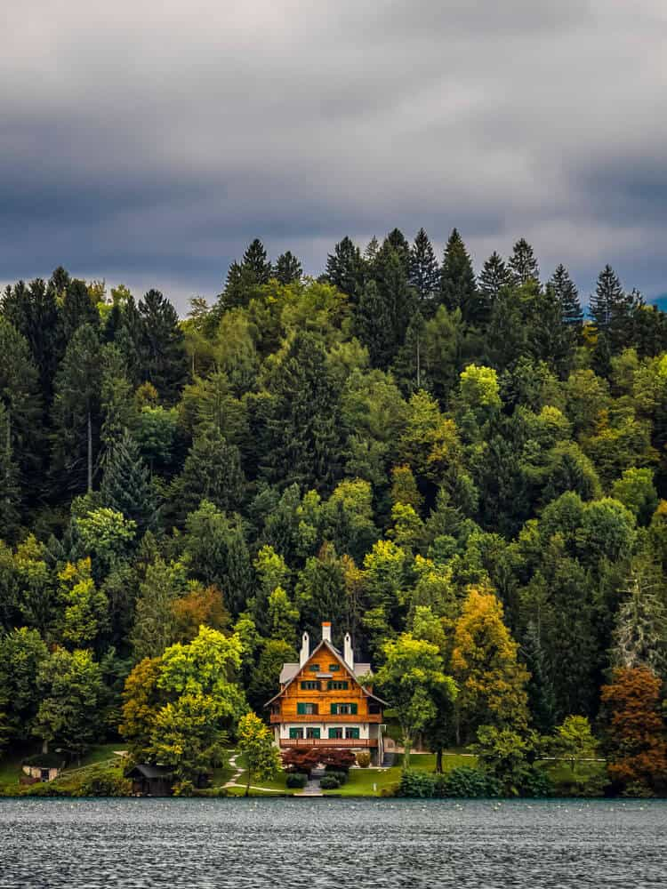 House that is in the middle of forest in Bled