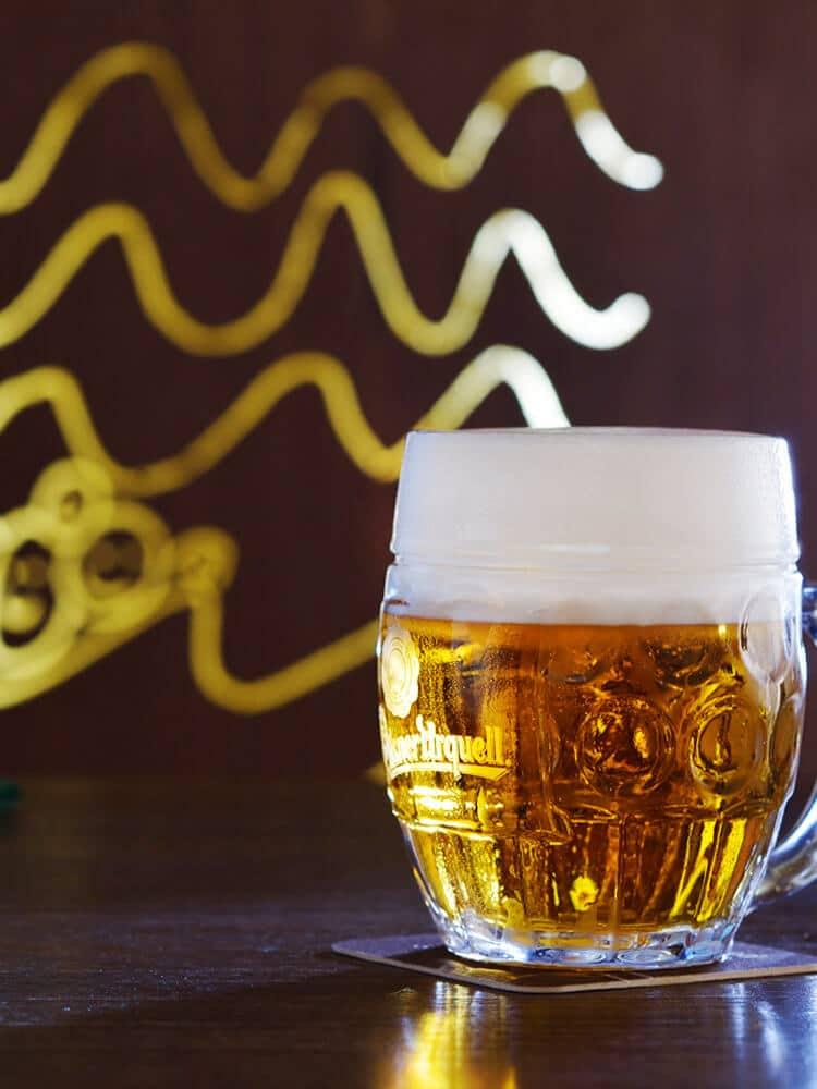 Beer at Lokal in Prague