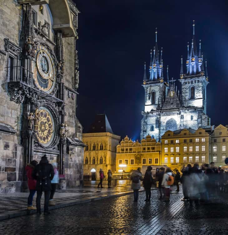 People in old town square in Prague