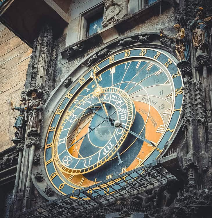 View of Astronomical clock in Prague