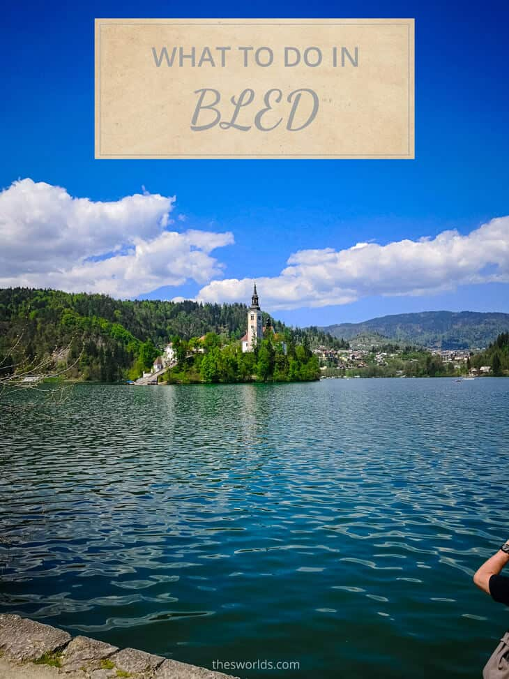 Lake Bled Island in the middle of the Lake
