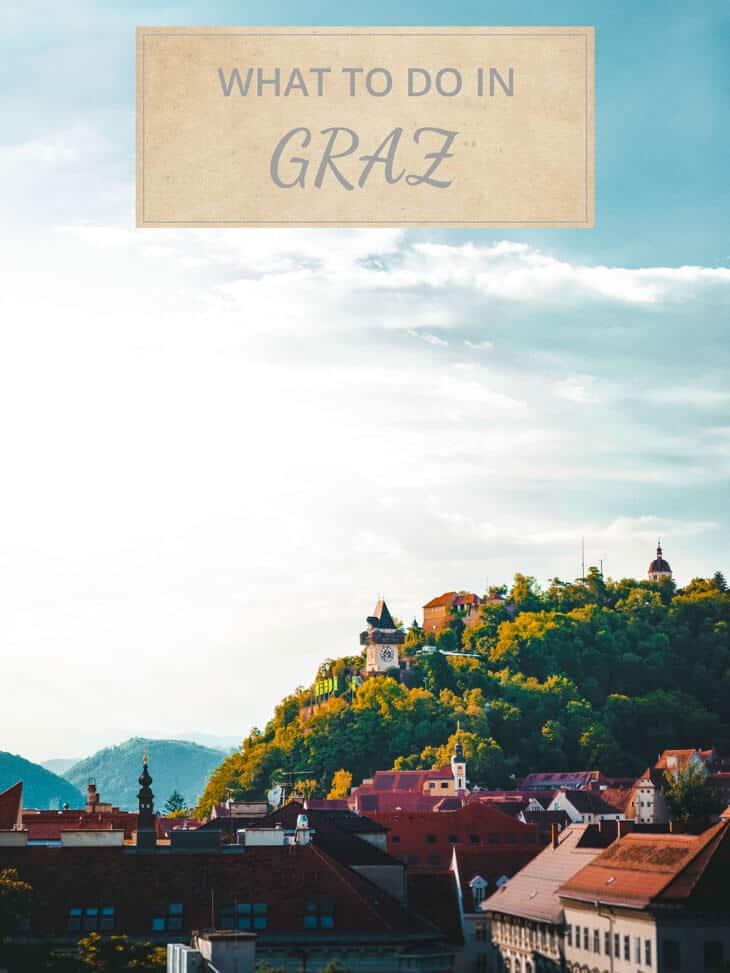 View of Graz rooftops