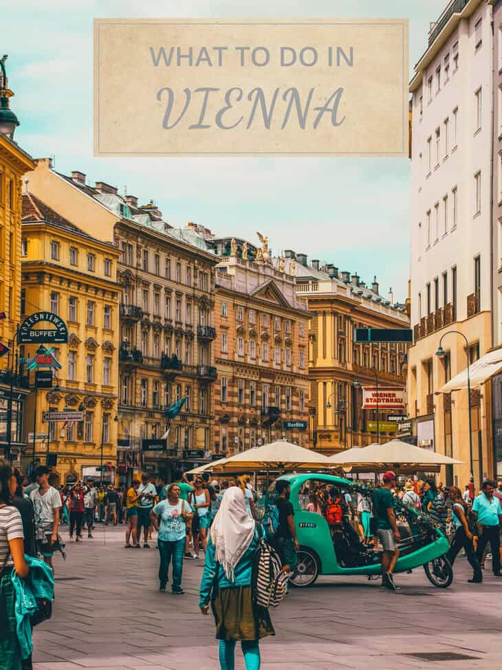 People walking at main street in Vienna