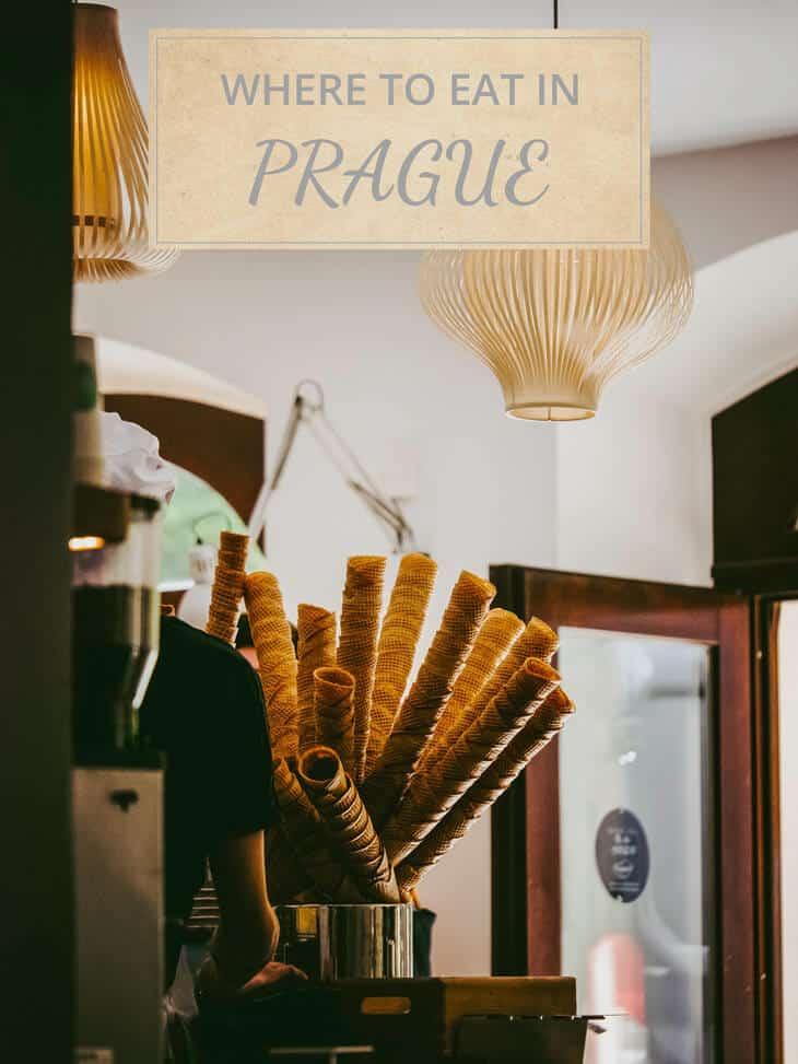 Ice cream cones at a shop in Prague