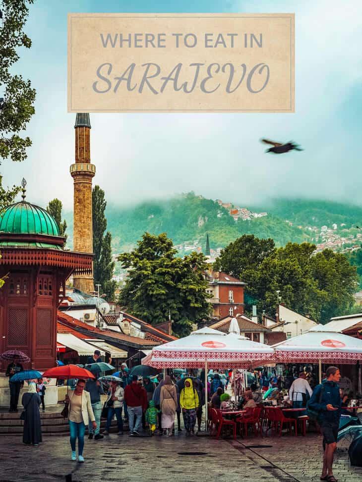People walking at Bascarsija in Sarajevo