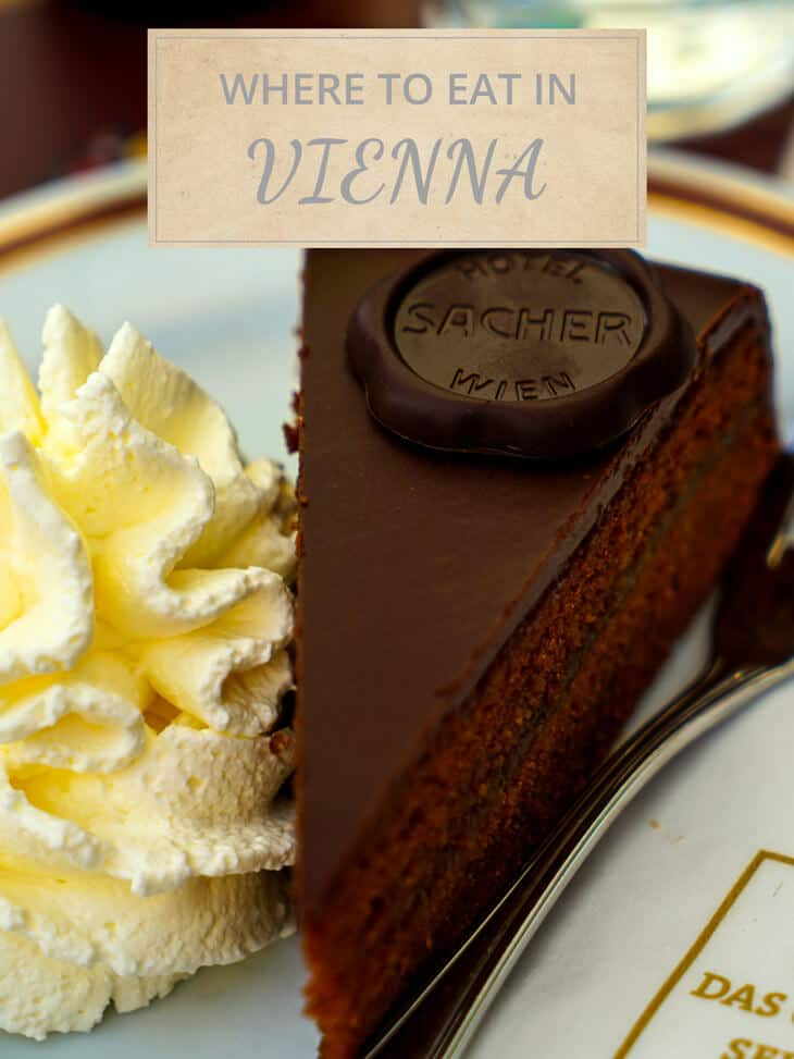 Eating cake at Sacher Hotel in Vienna