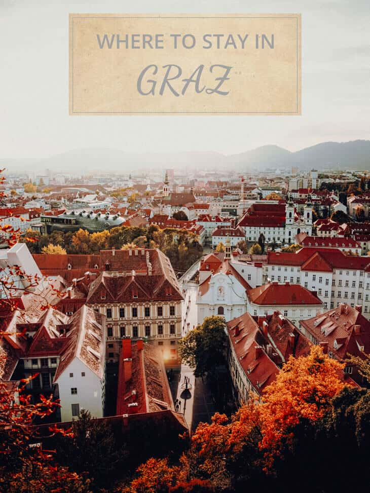 Aerial view of Graz in Spring