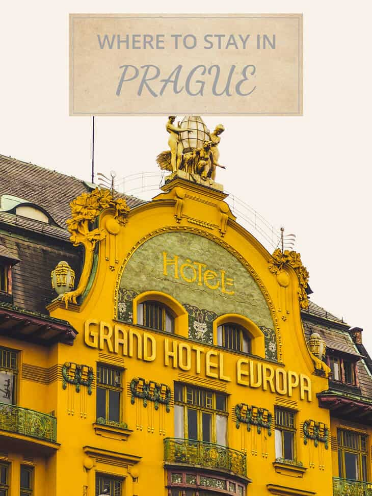 Front of Grand Hotel Europe in Prague