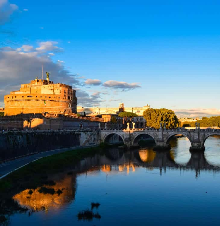 River view of Castel Sant Angelo in Rome