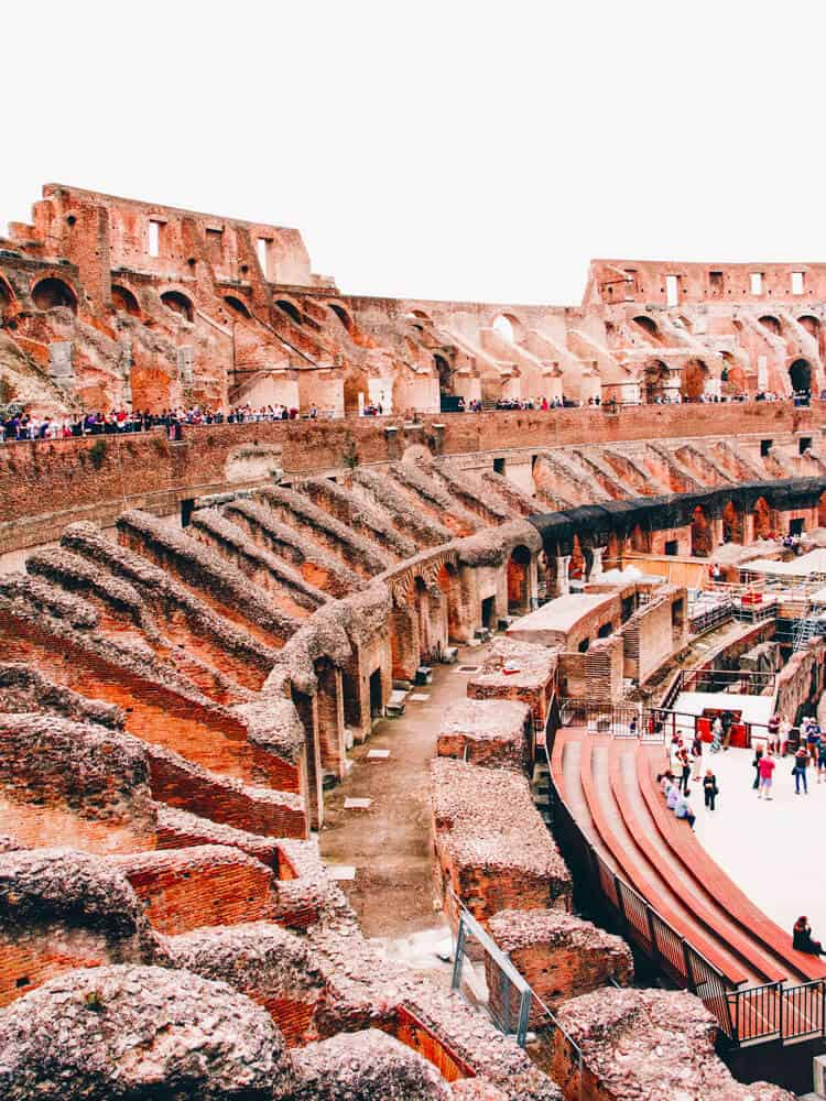 Inside view of colosseum in Rome