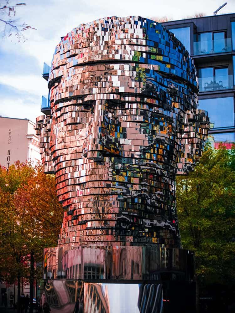 Statue of Frank Kafka in Prague