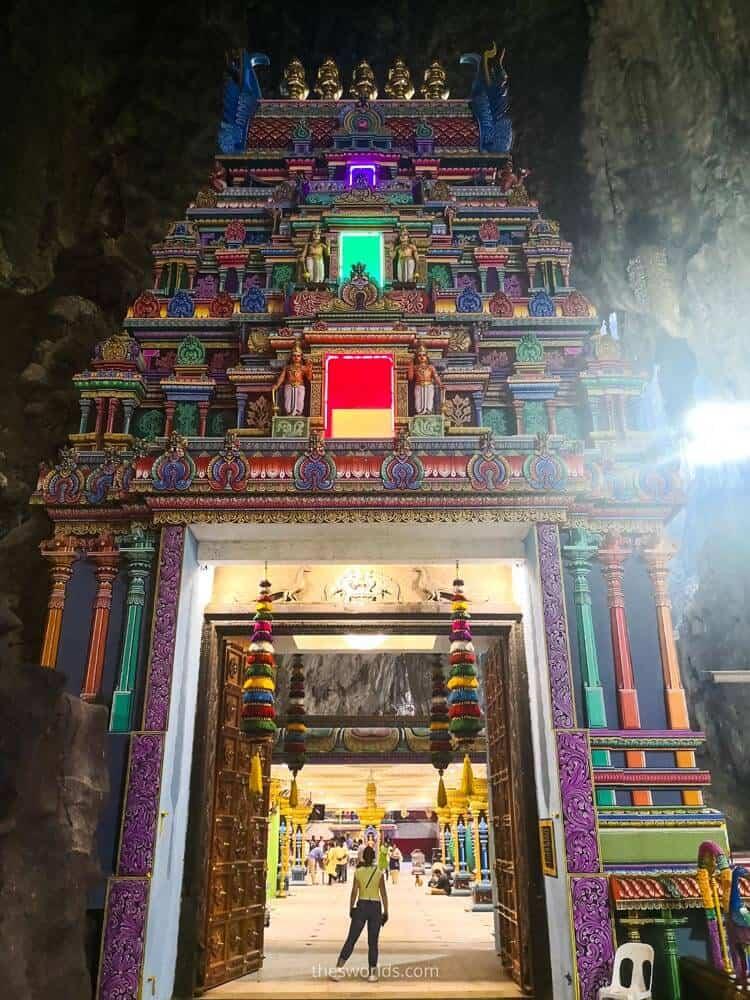 Hindi temple inside Batu caves in Kuala Lumpur