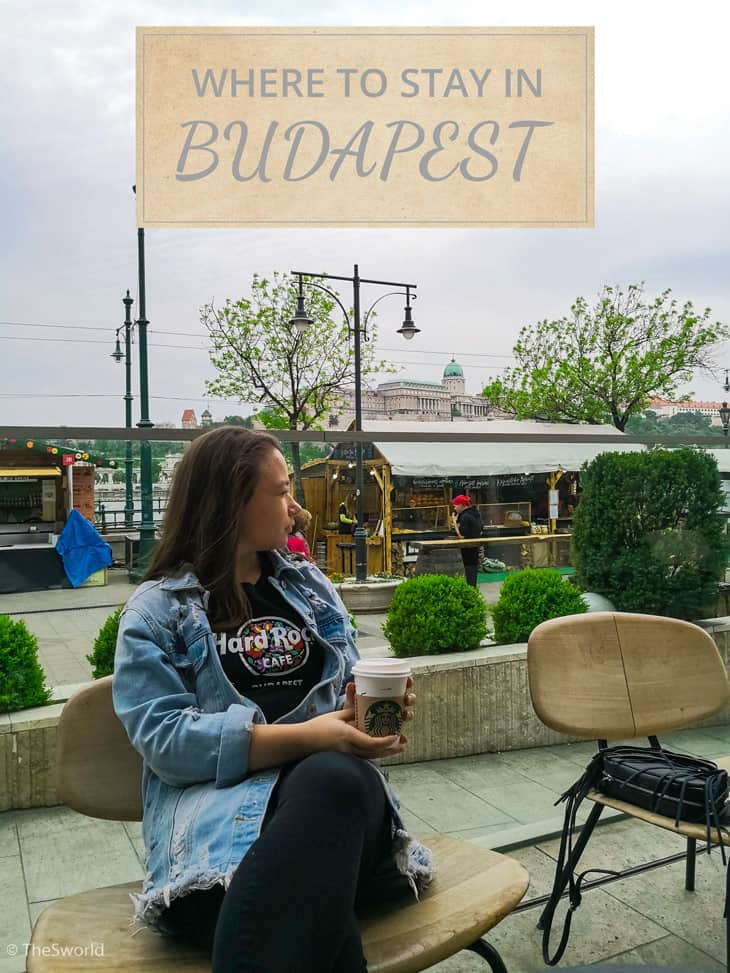 Girl drinking Starbucks coffee in Budapest