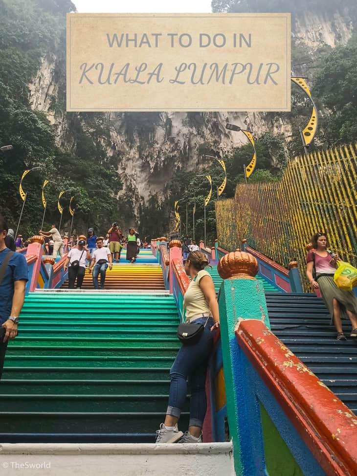 Girl standing at Batu caves stairs in Kuala Lumpur
