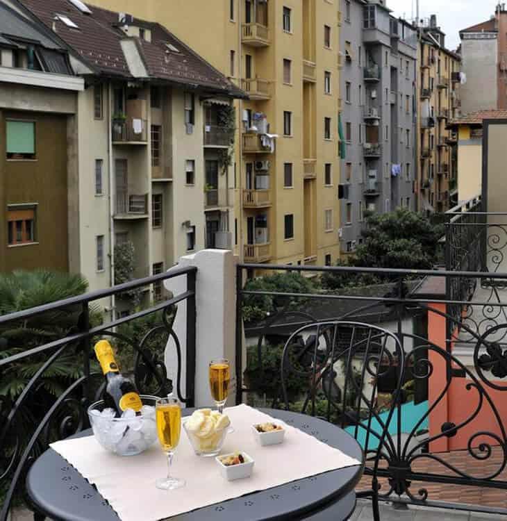 Hotel Biocity balcony in Milan