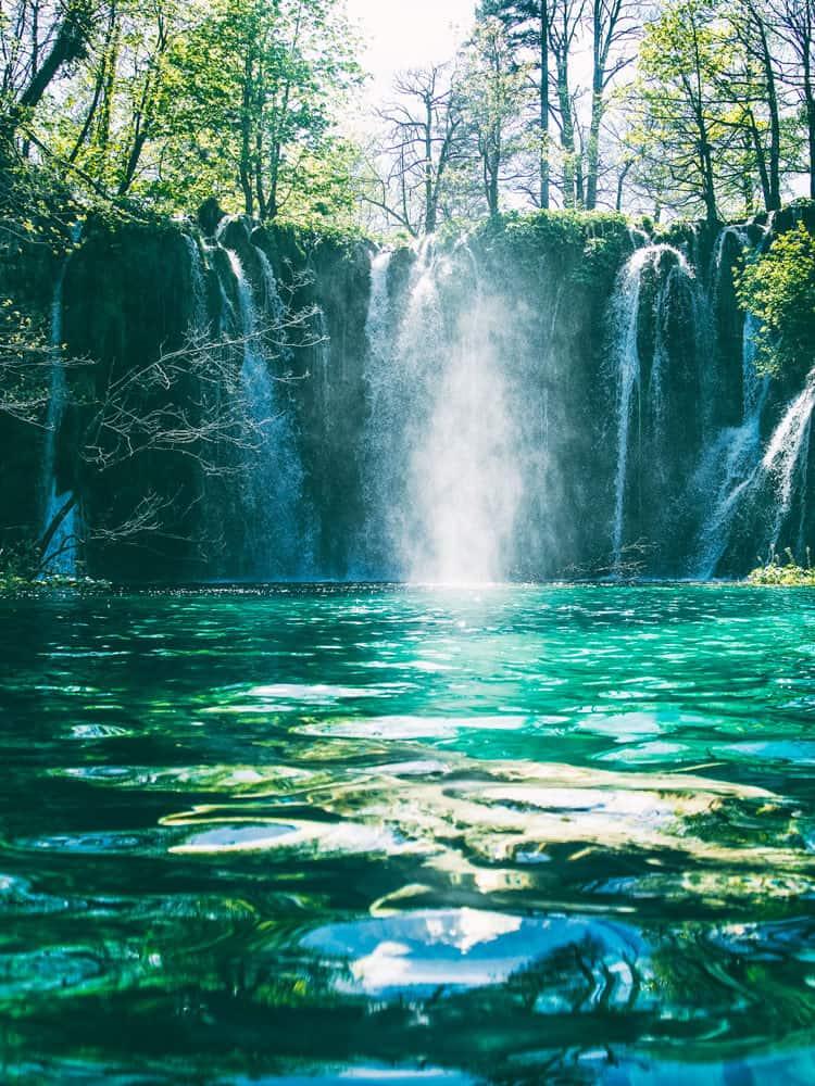 Waterfalls at Croatian lake