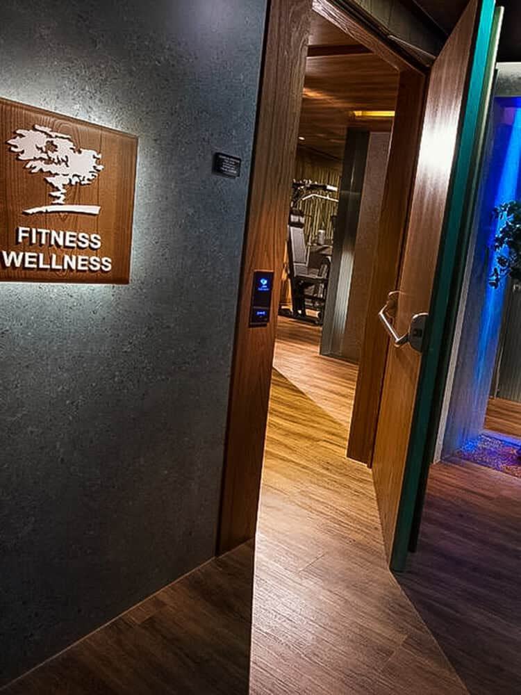 Wellness entrance at Hotel Cavour
