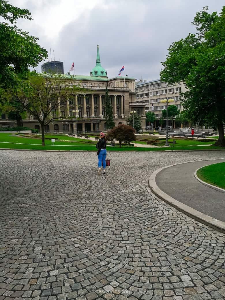 Girl posing at park in Belgrade
