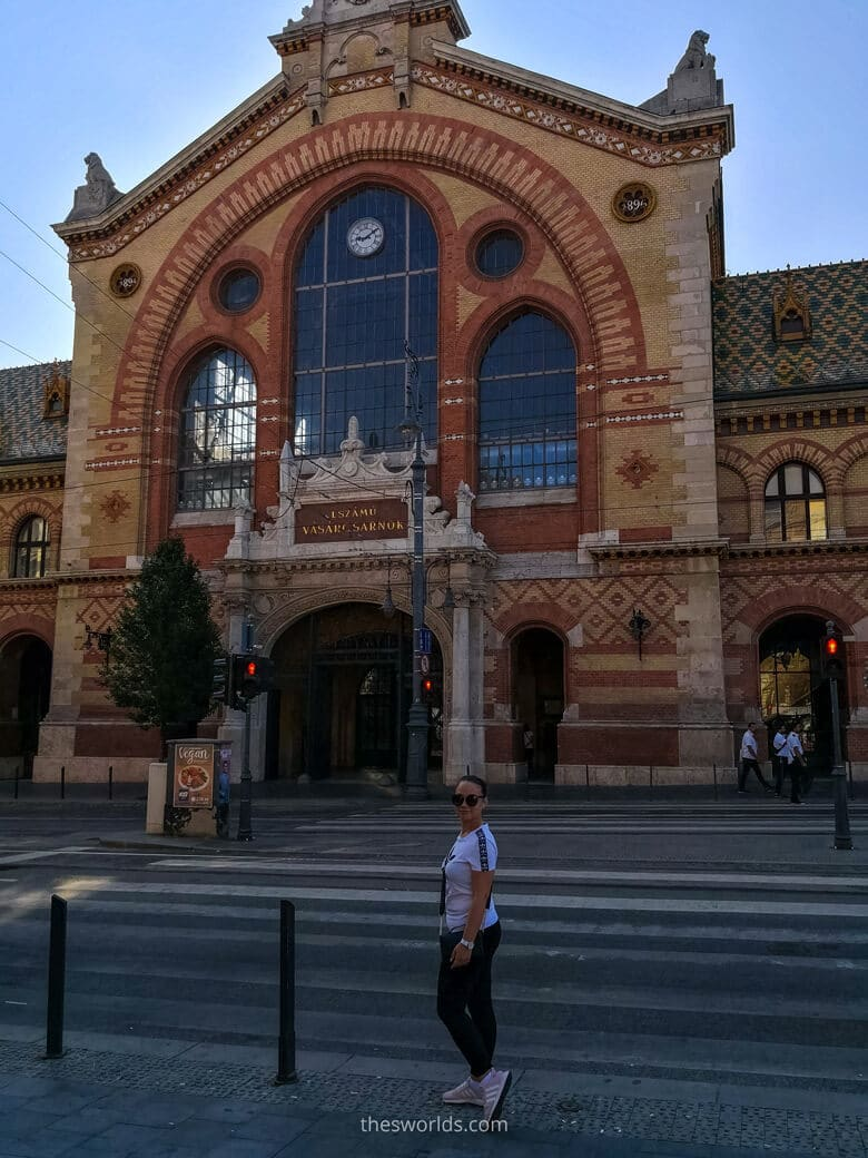 Entrance to Central market in Budapest