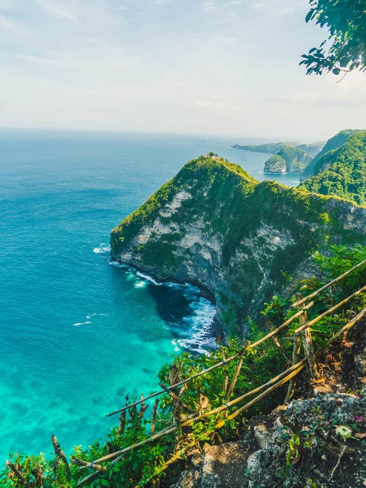 Looking at Nusa penida next to ocean