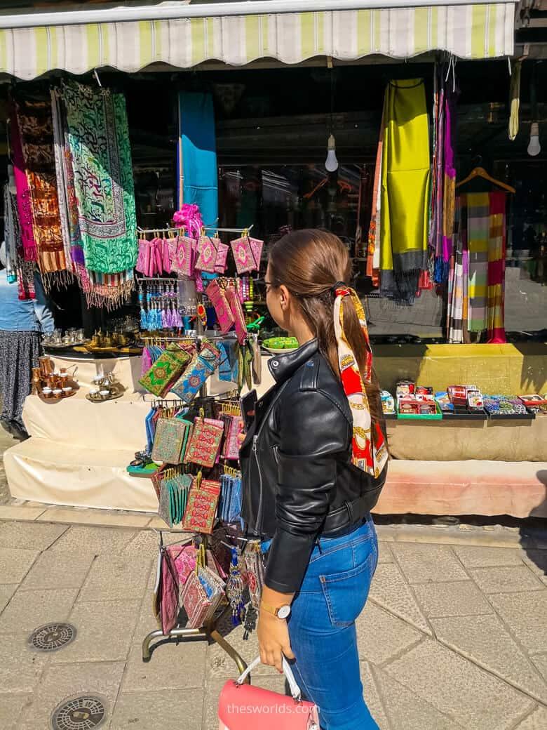 Girl shopping in Sarajevo