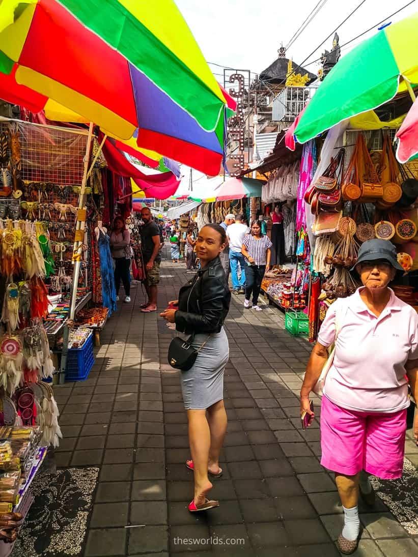 Girl posing at Ubud market
