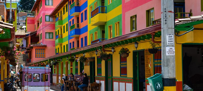 Colorful houses in Colombia