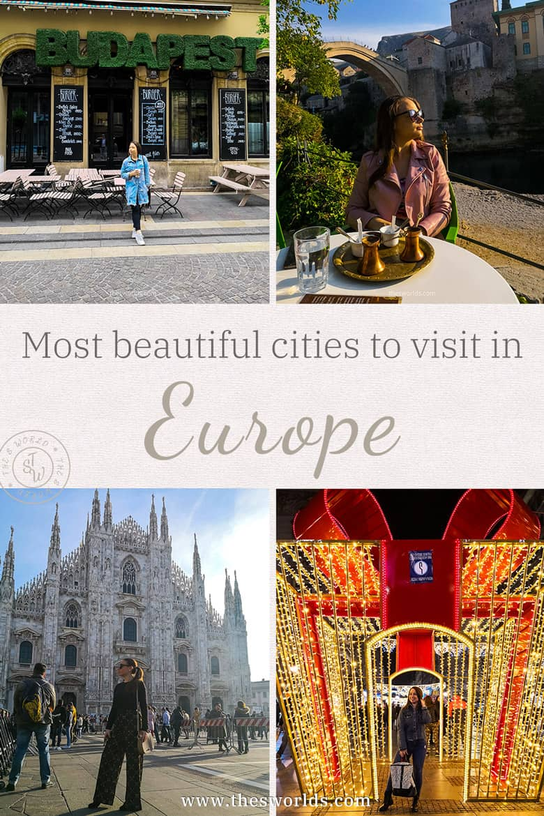 Grid of pictures from European cities to visit in Europe