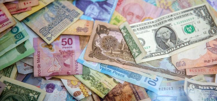 Different money currencies