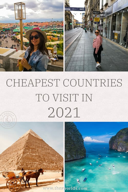 Cheapest countries to visit in 2021