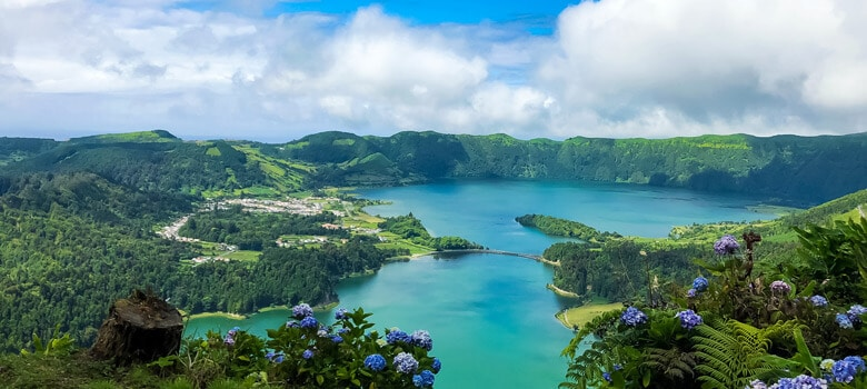 Lake view of Azores