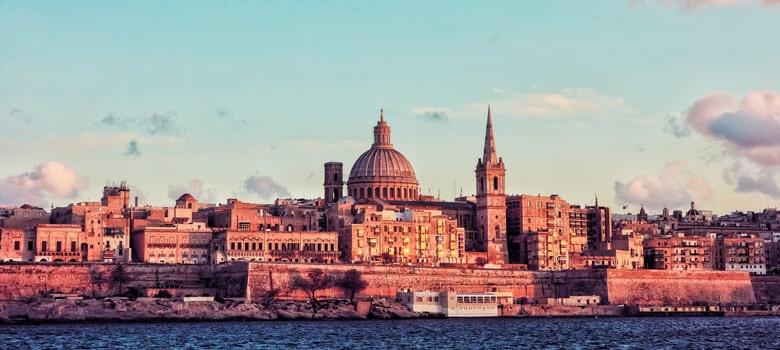 River view of buildings in Malta