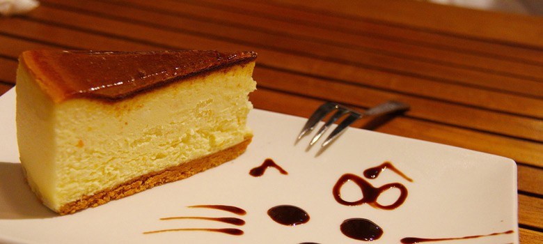 Sernik Cheesecake on tray