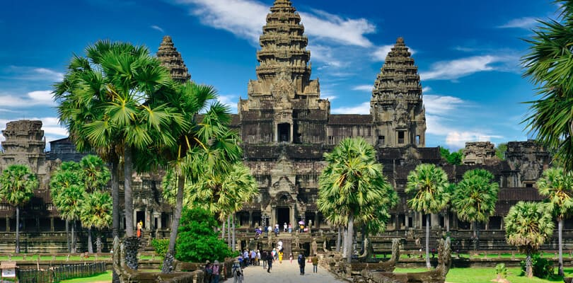 Entrance to Angkor Wat in Cambodia