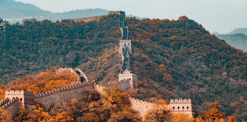 Spring time at Great Wall of China