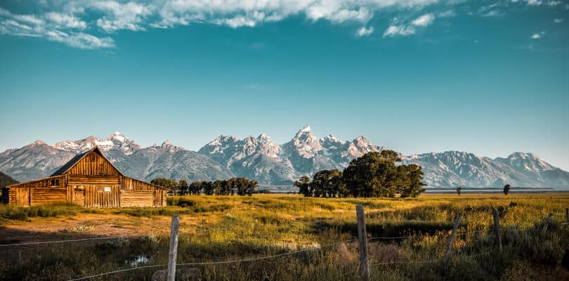 Shed at Jackson hole in Wyoming