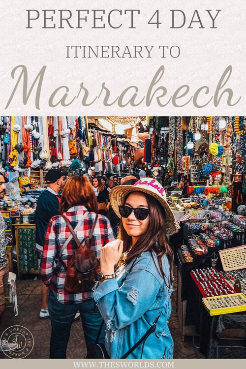 perfect four day itinerary to Marrakech