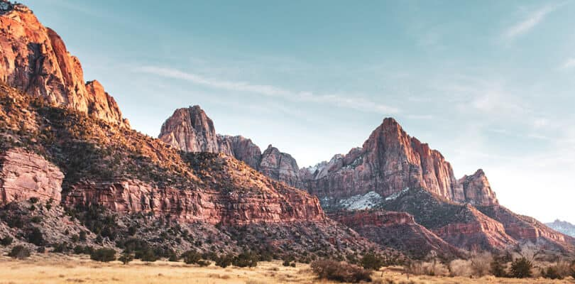 Mountain view at Zion national park